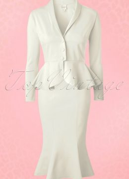 50s Diva Suit Jacket in Ivory