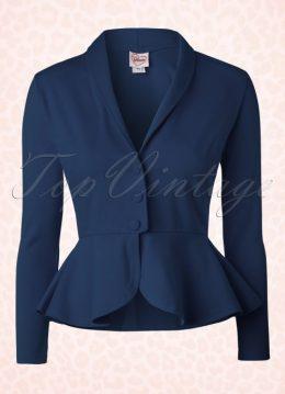 50s Diva Suit Jacket in Navy