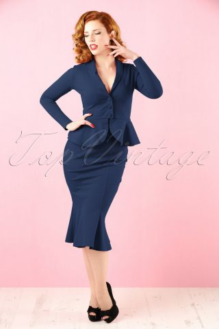 50s Diva Suit Jacket in Navy