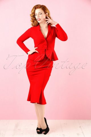50s Diva Suit Jacket in Red