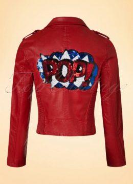 60s Make It Pop Jacket in Red