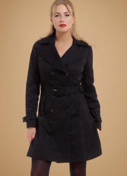 50s Susan Trenchcoat in Black