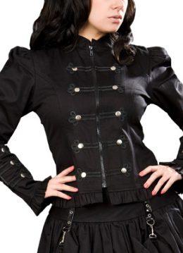Pirate jacket - zwarte gothic, fantasy, lolita jas - XL - Burleska