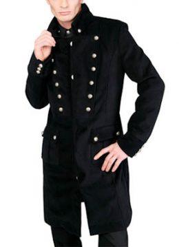 Admiral heren military jas zwart - Gothic Rock Metal - XL - Aderlass