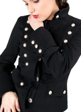 Corsair ladies jacket black denim - L - Aderlass