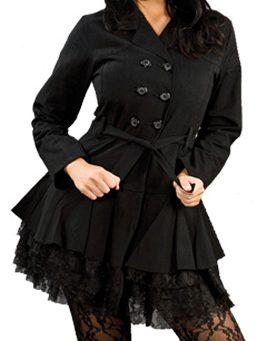 Dark jacket - Donkere gothic, fantasy, lolita jas - XL - Burleska