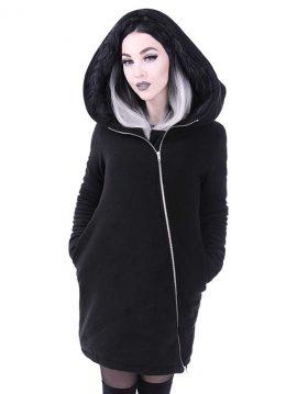 Post apocalyptic coat met capuchon zwart - Gothic Occult - XXXL - Restyle