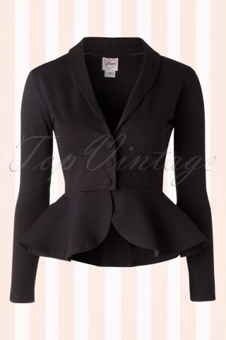 50s Diva Suit Jacket in Black