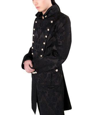 Admiral coat black brocade - L - Aderlass