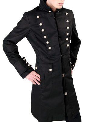 Admiral coat black denim - L - Aderlass