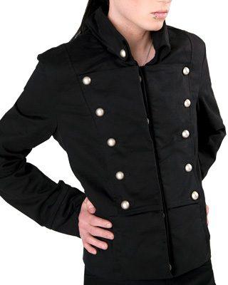 Corsair jacket black denim - S - Aderlass