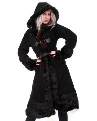 Minx coat ladies black - S - Poizen Industries