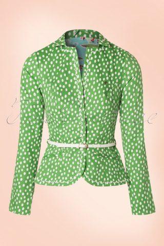 60s Strasse Der Besten Blazer in Fresh Lot Dots Green