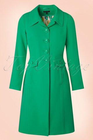 60s Luisa Coat in Opal Green