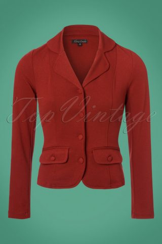 40s Milano Crepe Blazer Jacket in Rio Red