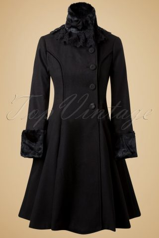 Vintage Angeline Coat in Black