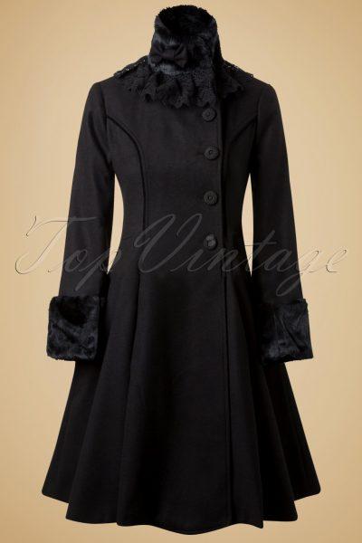 Vintage Angeline Coat in Black