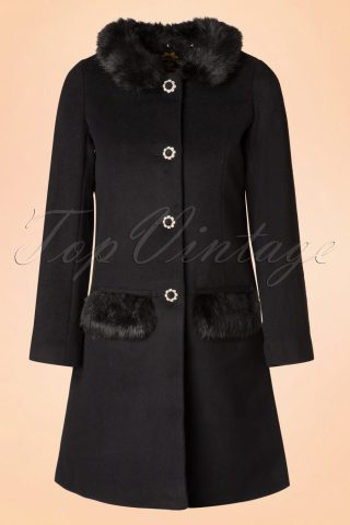 60s Juliette Coat in Black