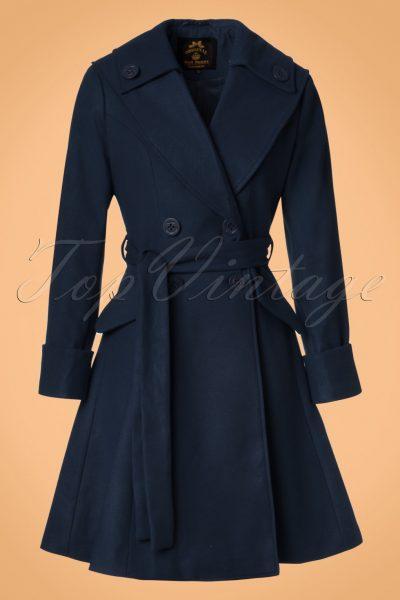 50s Olga Coat in Navy