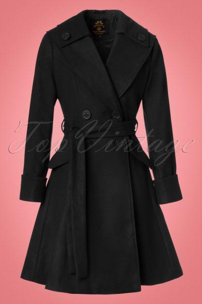 50s Olga Coat in Black
