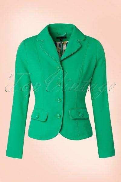 60s Blazer in Opal Green