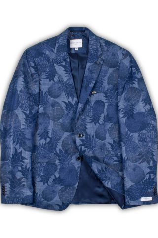 Giordano Heren Robert Pineapple Blazer Jacket Blauw