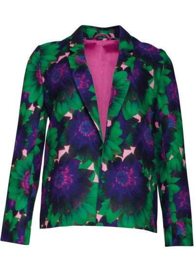 Smashed Lemon Mesmerizing 60's Blazer Jacket Groen Blauw