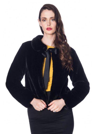 Banned Soft&Fuzzy Faux Fur 40's Jasje Zwart